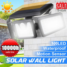 Load image into Gallery viewer, 74 LED Solar Lights Outdoor Motion Sensor, Solar Security Lights with Three Head Spotlights Waterproof Rotatable Solar Wall Lights Outdoor for Yard Garden Garage Patio Porch