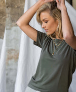 T-shirt LA POPPY Legergroen