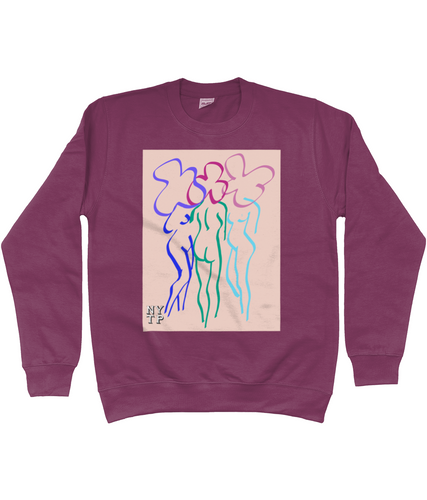Naked Ladies Sweatshirt - 10% of proceeds go to Action Aid