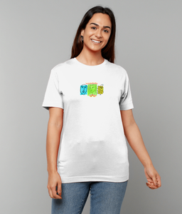 Faces Short Sleeve T-Shirt (Crayola Colours)