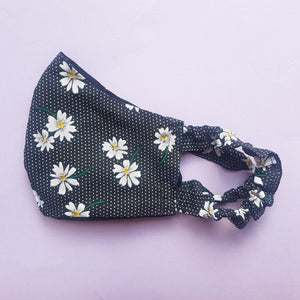 NYTP Scrunchie Face Mask with Free Matching Scrunchie Hair Tie and Gift Pouch