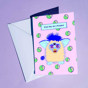 Furby Valentines Day Greetings Card
