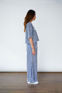 """Greyhound Stripe Lounge set"" Crop Top + Pants (WOMEN)"