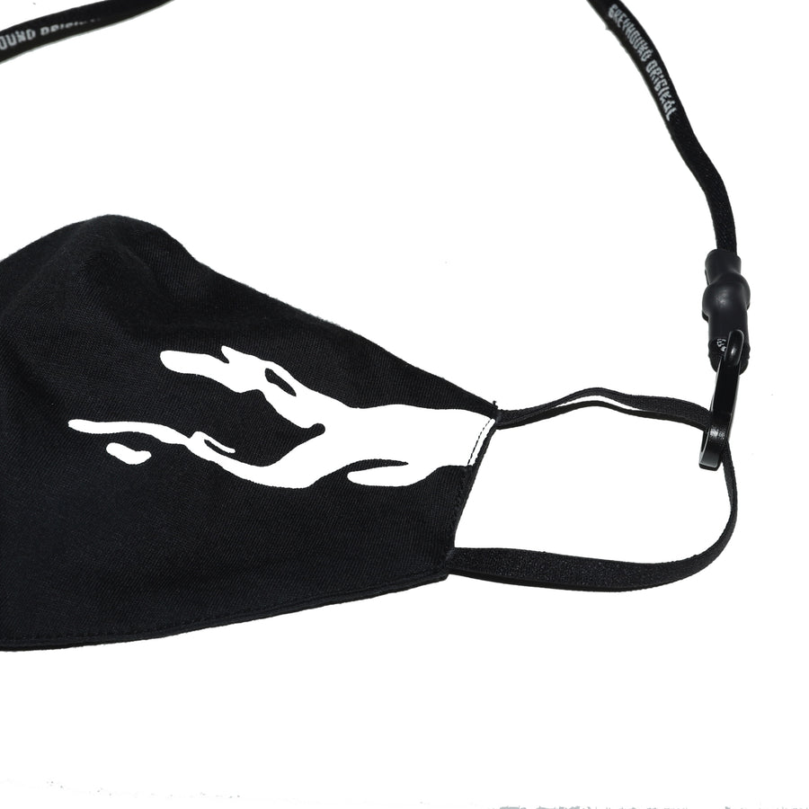 Greyhound Oversized Logo Mask Black
