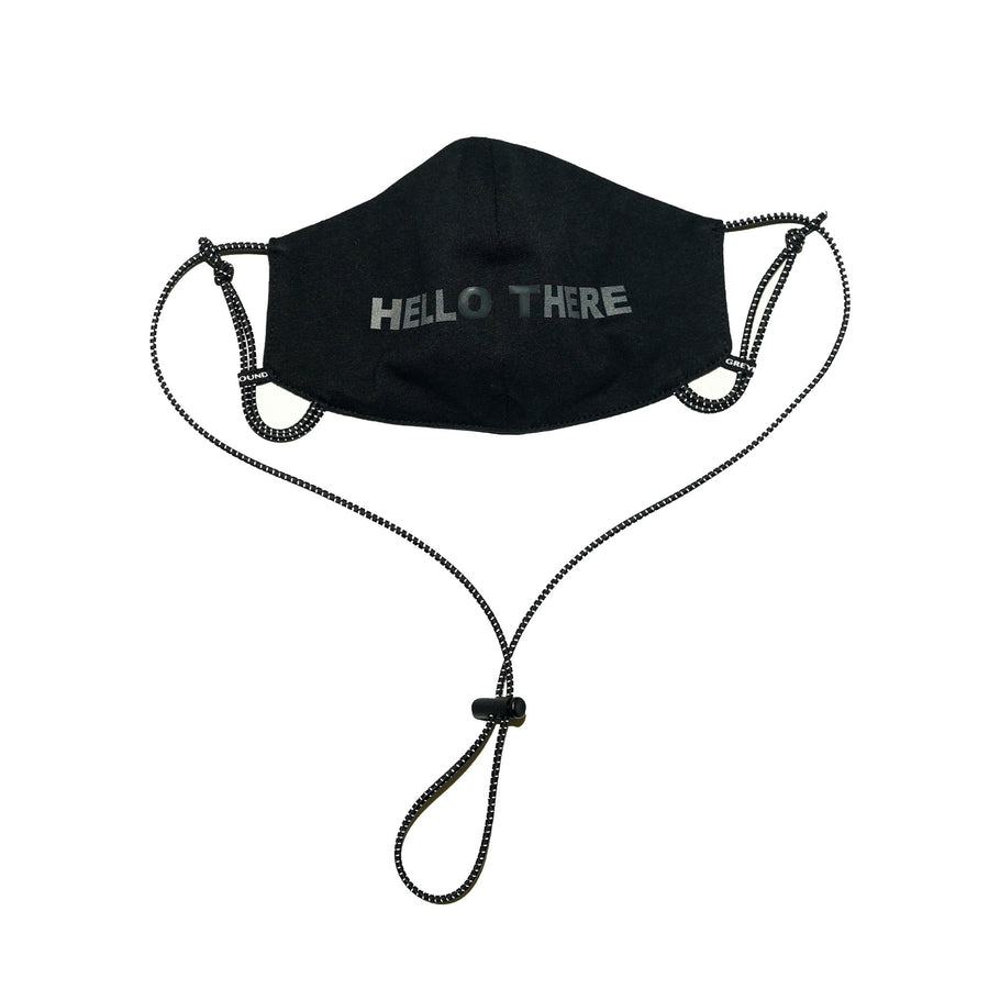 "GREYHOUND BLACK REFLECTIVE ""HELLO THERE"" MASK"