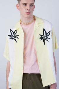 Flower Bombs Embroidery Bowling Shirt