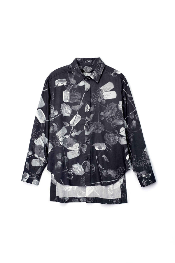 Rose Print Long Sleeves Shirt