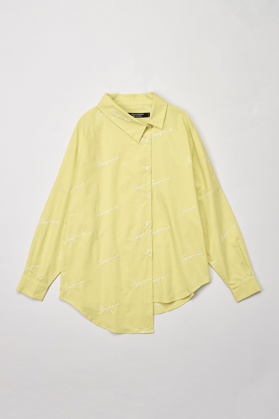 Fluorescent Yellow Asymmetrical Shirt