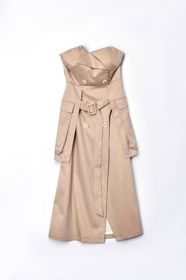 Strapless Trench Dress