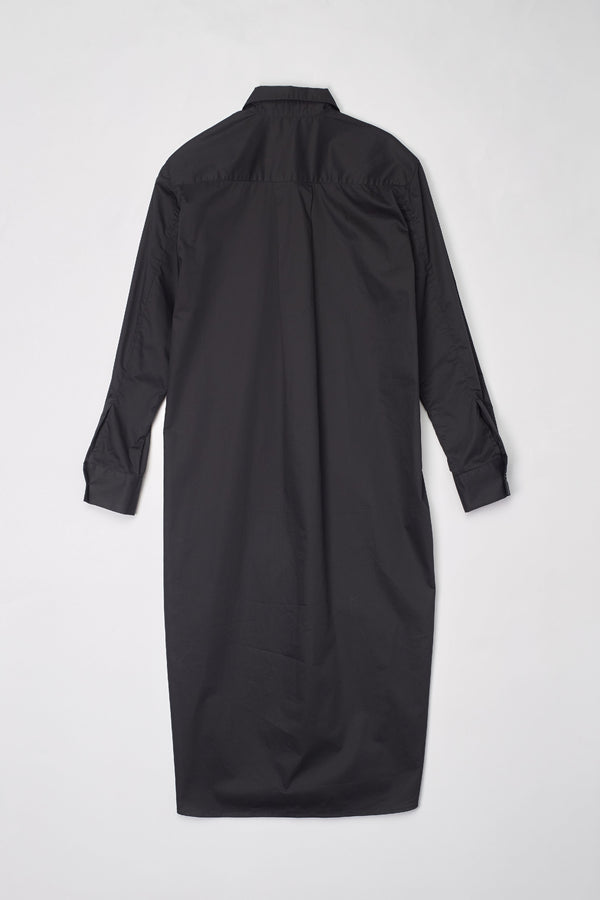 Black Utility Dress Shirt