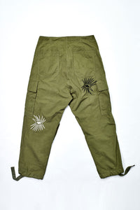 Flower Bombs Embroidery Pants