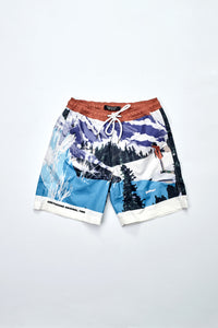 """Wish you were there"" slim shorts"