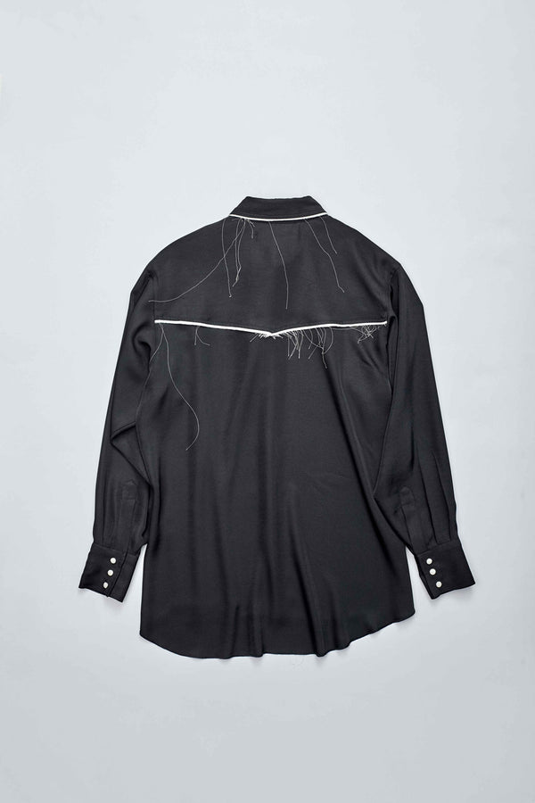 Western Raw-edge Shirt