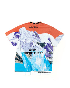 """wish you were there"" T-shirt"