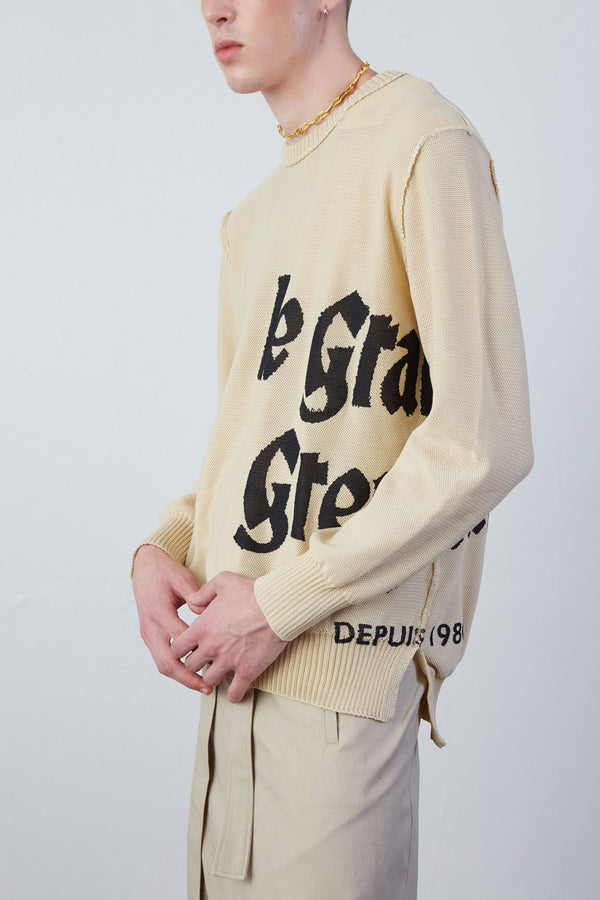 Le Grand De Greyhound Summer Knitted Sweater