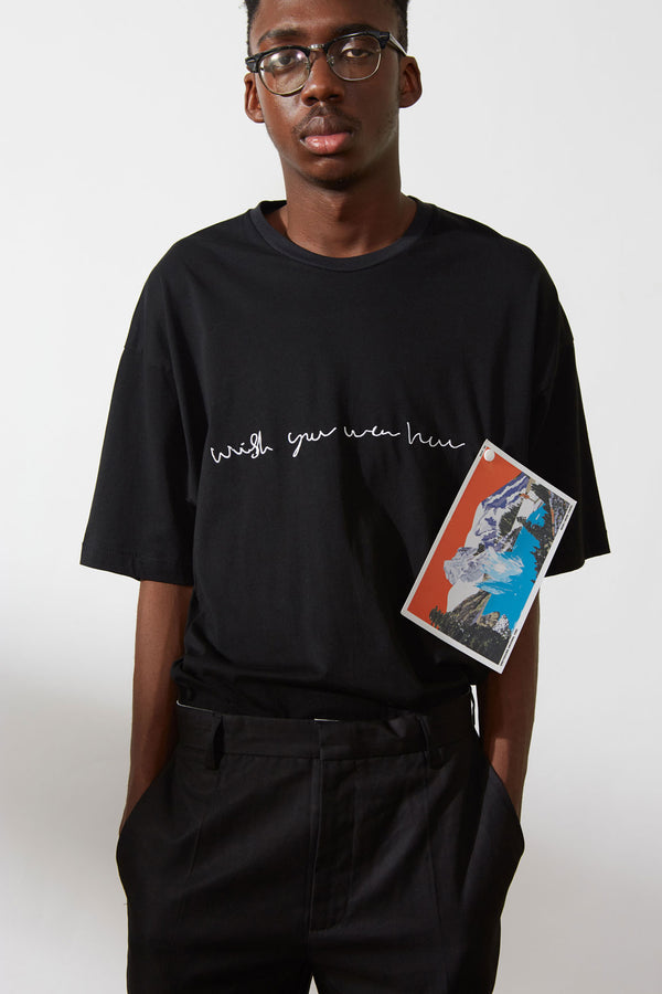 """Wish you were here"" postcard t-shirt"