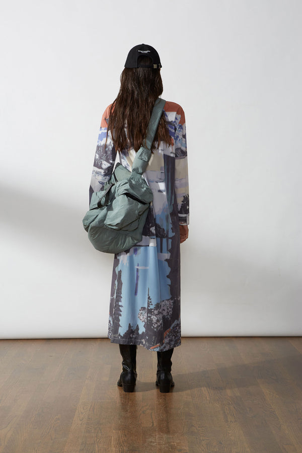 Postcard Print Shirt Dress