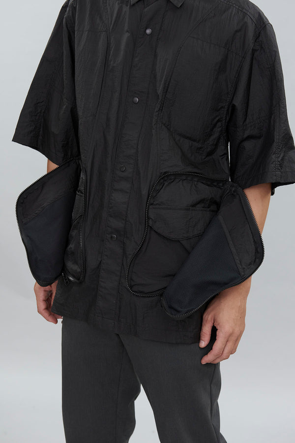 UTILITY NYLON BOX SHIRT