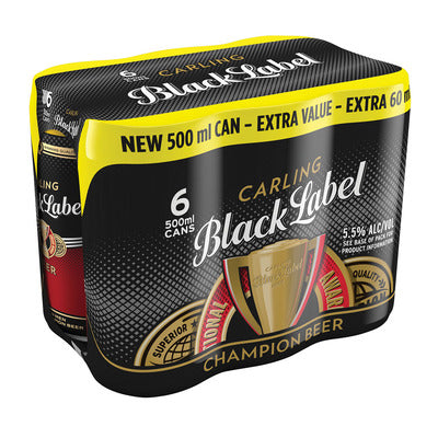 Carling Black Label 500ml Can