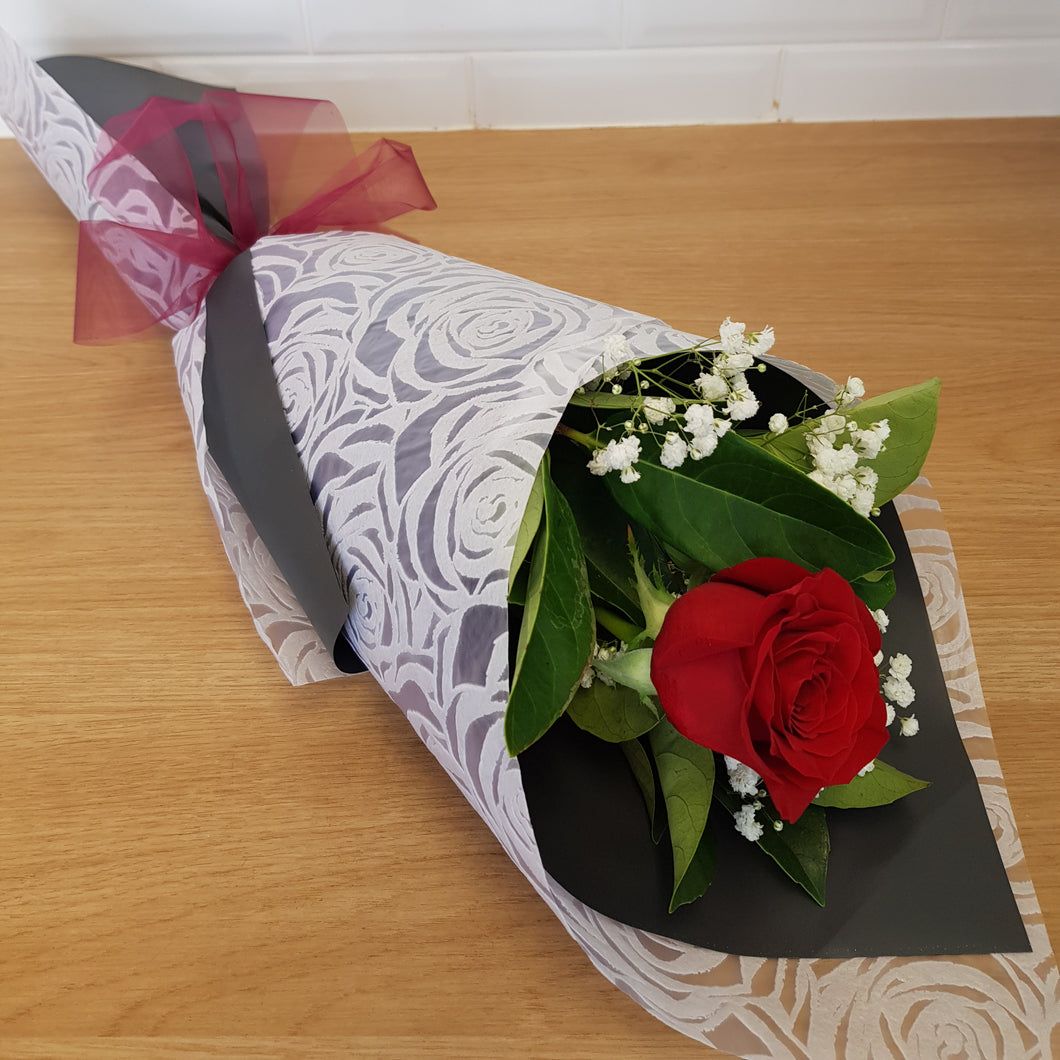 Single Wrapped rose - Gold Coast City Florist