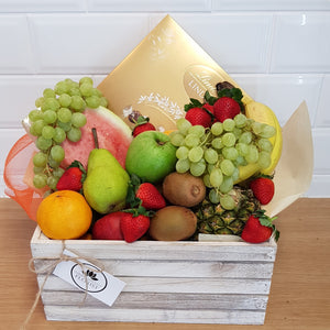 Medium Fruit and Chocolate hamper - Gold Coast City Florist