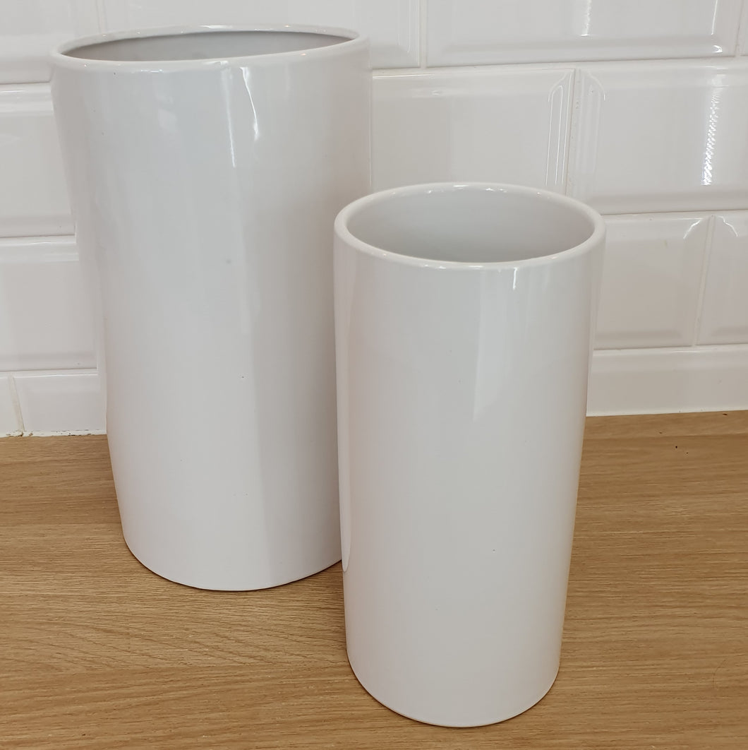 Ceramic Cylinder vases - Gold Coast City Florist