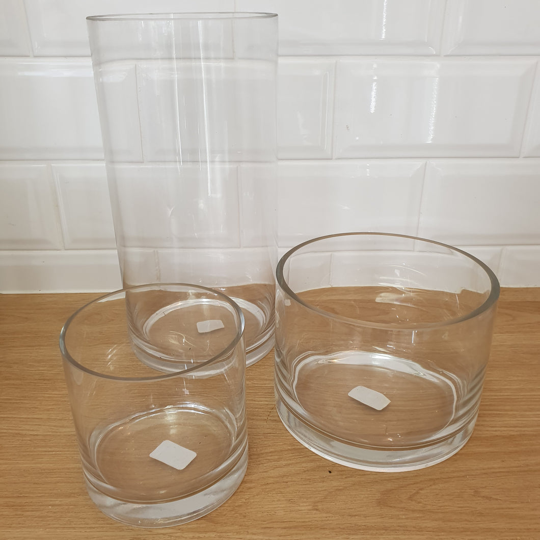 Cylinder Glass vases - Gold Coast City Florist