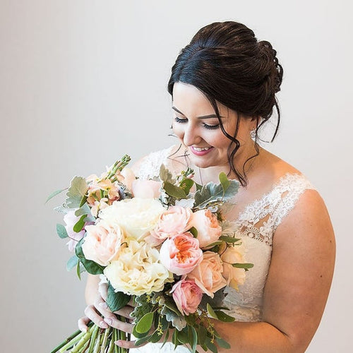 Peaches and Creams Bridal bouquet - Gold Coast City Florist