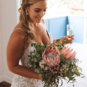 Native wedding bouquet - Gold Coast City Florist