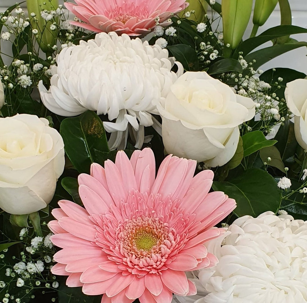 FLORIST CHOICE - PINKS/WHITES - BOUQUET - Gold Coast City Florist