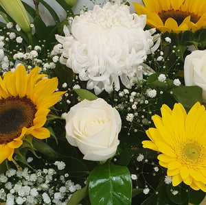FLORIST CHOICE - YELLOWS/WHITES - BOUQUET - Gold Coast City Florist