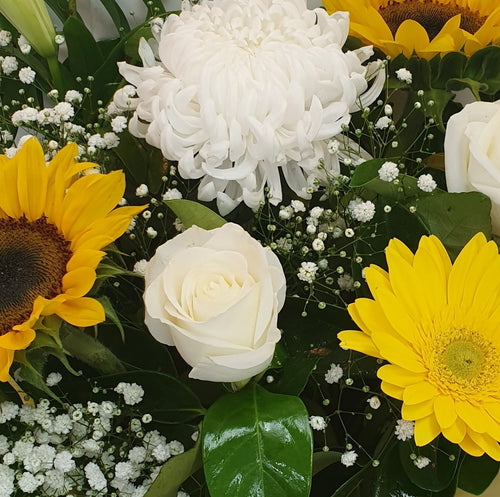 FLORIST CHOICE - YELLOWS/WHITES - ARRANGEMENT - Gold Coast City Florist