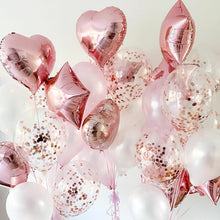 Load image into Gallery viewer, Mixed Foil, latex and Confetti balloon bouquet - Gold Coast City Florist