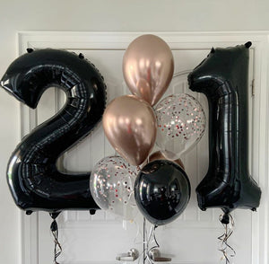 Large number foil Balloons - Gold Coast City Florist