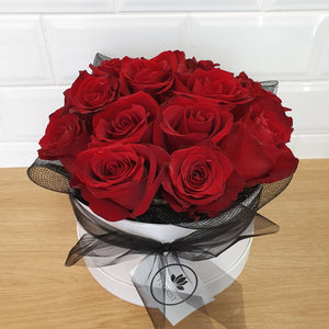 18 rose Hat Box - Gold Coast City Florist