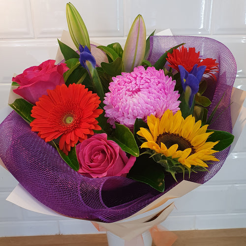 Bright and Vibrant bouquet - Gold Coast City Florist