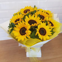 Load image into Gallery viewer, Sunflower bouquet in a cardboard vase - Gold Coast City Florist