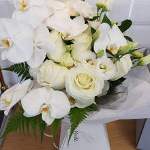Load image into Gallery viewer, Elegant phaelanopsis orchid and rose bouquet - Gold Coast City Florist