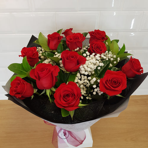 12 rose bouquet - Gold Coast City Florist