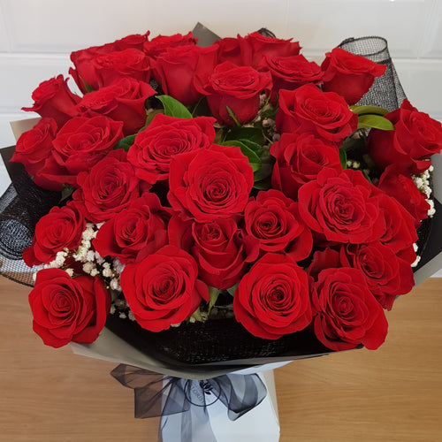 35 premium colombian roses in bouquet - Gold Coast City Florist