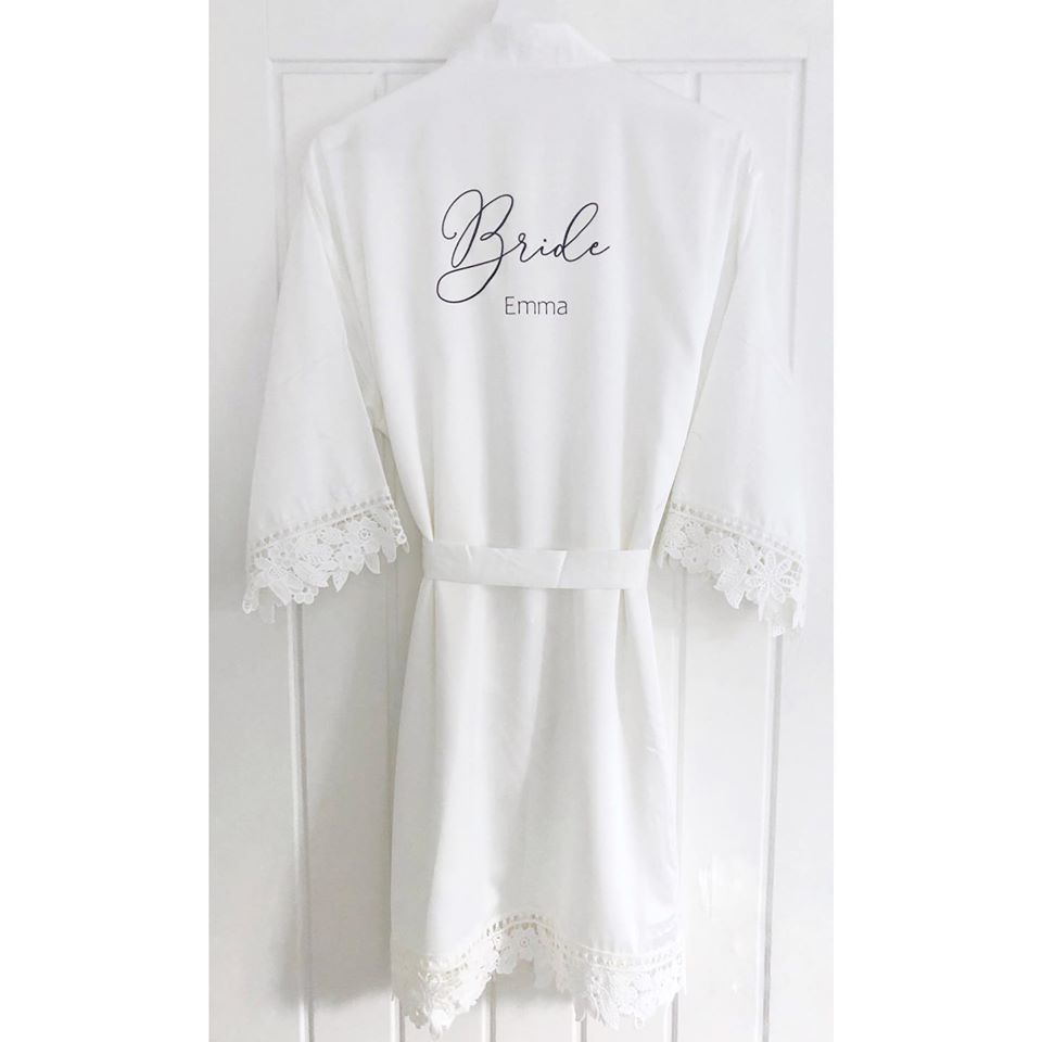 Bella Satin Lace Robe