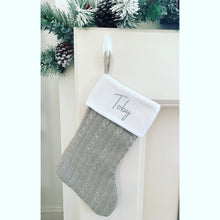 Load image into Gallery viewer, Personalised Knitted Christmas Stocking