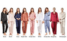 Load image into Gallery viewer, Monogram Long Satin Pyjama Set