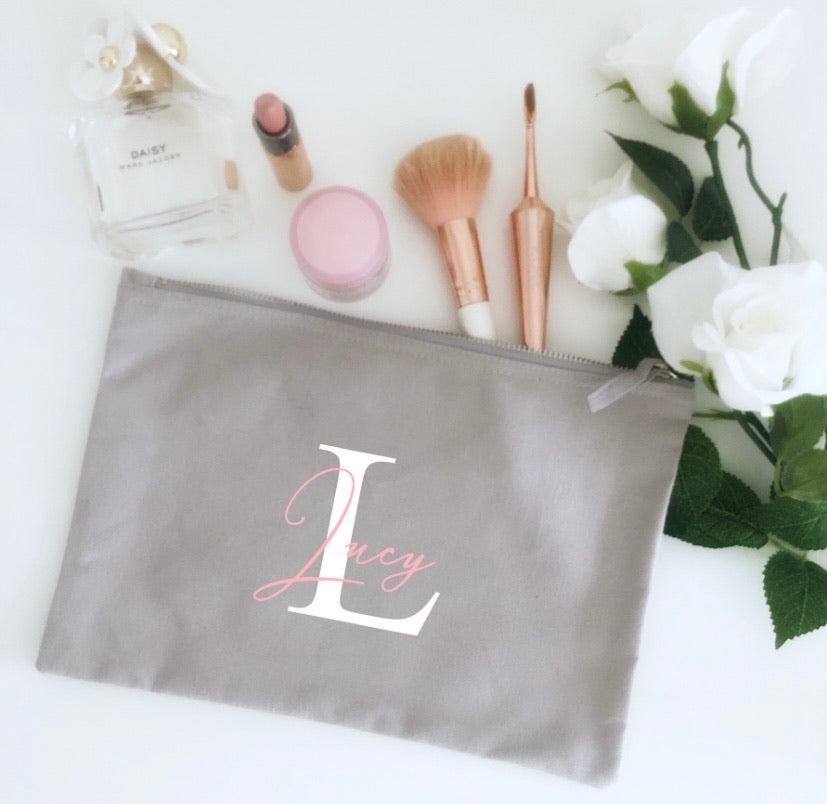 Personalised Monogram Make Up Bag