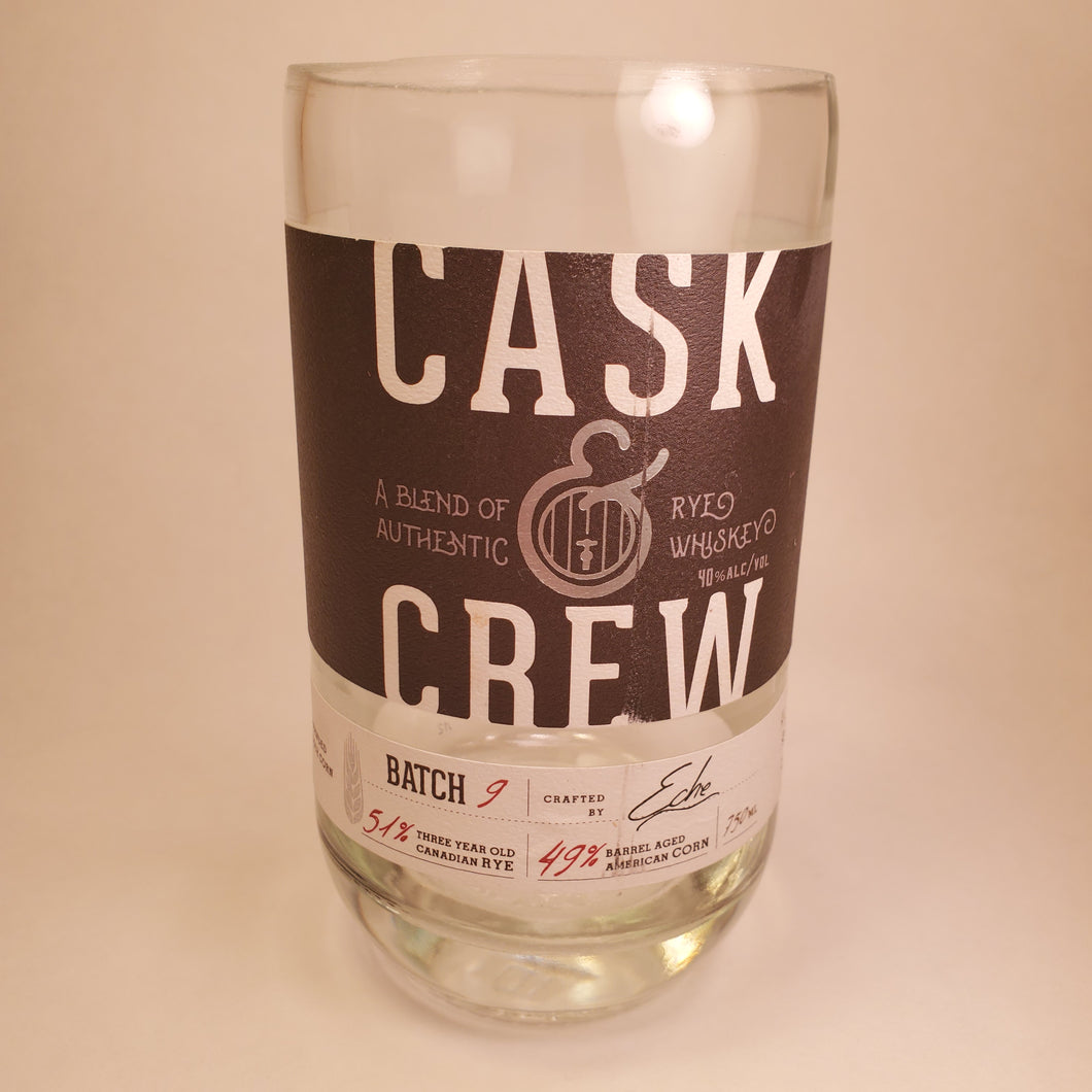 Cask & Crew 750ml Hand Cut Upcycled Liquor Bottle Candle - Choose Your Scent