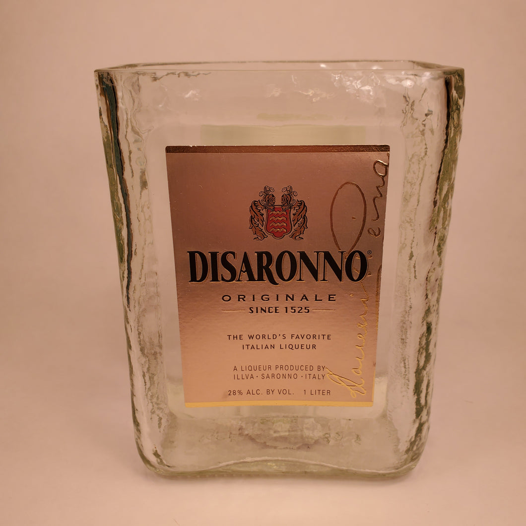 Disaronno 1L Hand Cut Upcycled Liquor Bottle Candle - Choose Your Scent