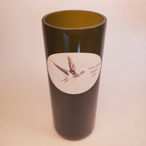 Thread Feathers 2017 Cabernet Sauvignon Hand Cut Upcycled Wine Bottle Candle - Choose Your Scent