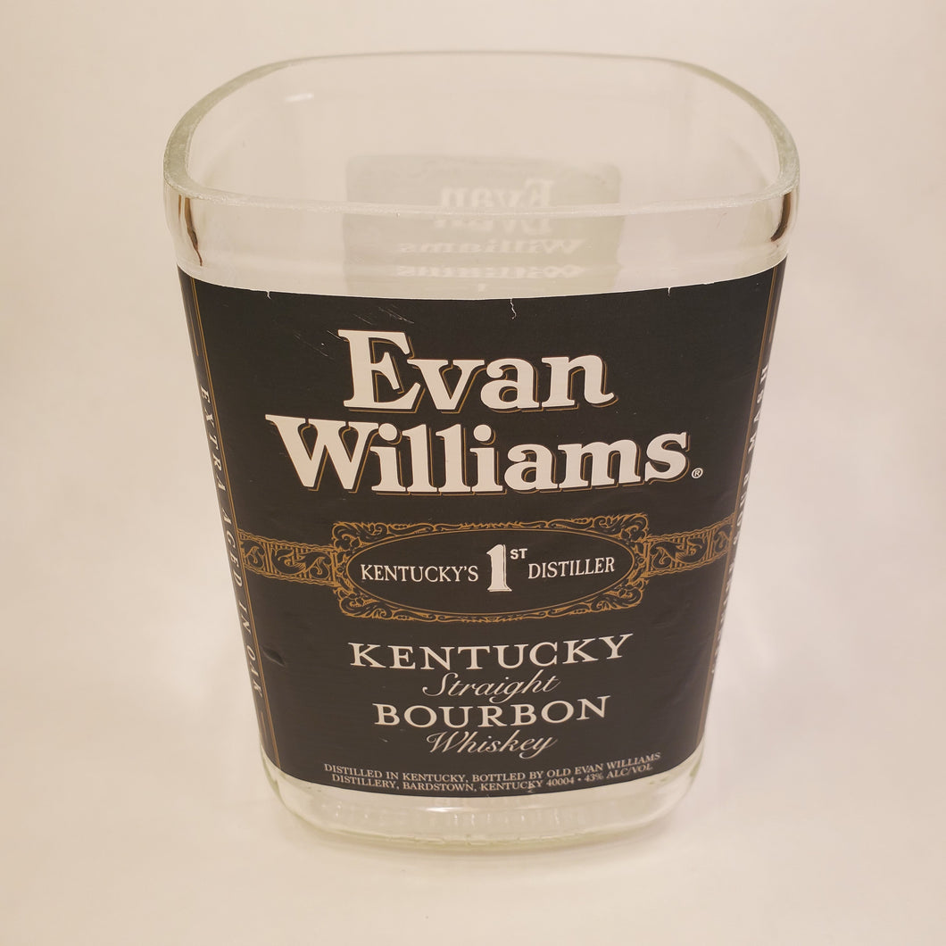 Evan Williams Kentucky Bourbon 1.75L Hand Cut Upcycled Liquor Bottle Candle  - Choose Your Scent