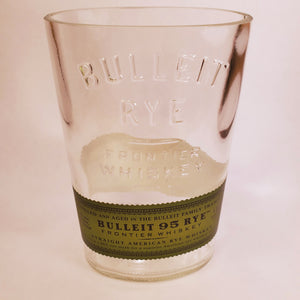 Bulleit 95 Rye Frontier Whiskey 1L Hand Cut Upcycled Liquor Bottle Candle - Choose Your Scent