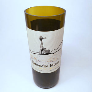 Shimmin Rock Cabernet Sauvignon 2014 Hand Cut Upcycled Wine Bottle Candle - Choose Your Scent
